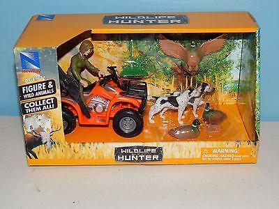 New-Ray Wildlife Hunter Figure & Wild Animals - Dog, Duck,