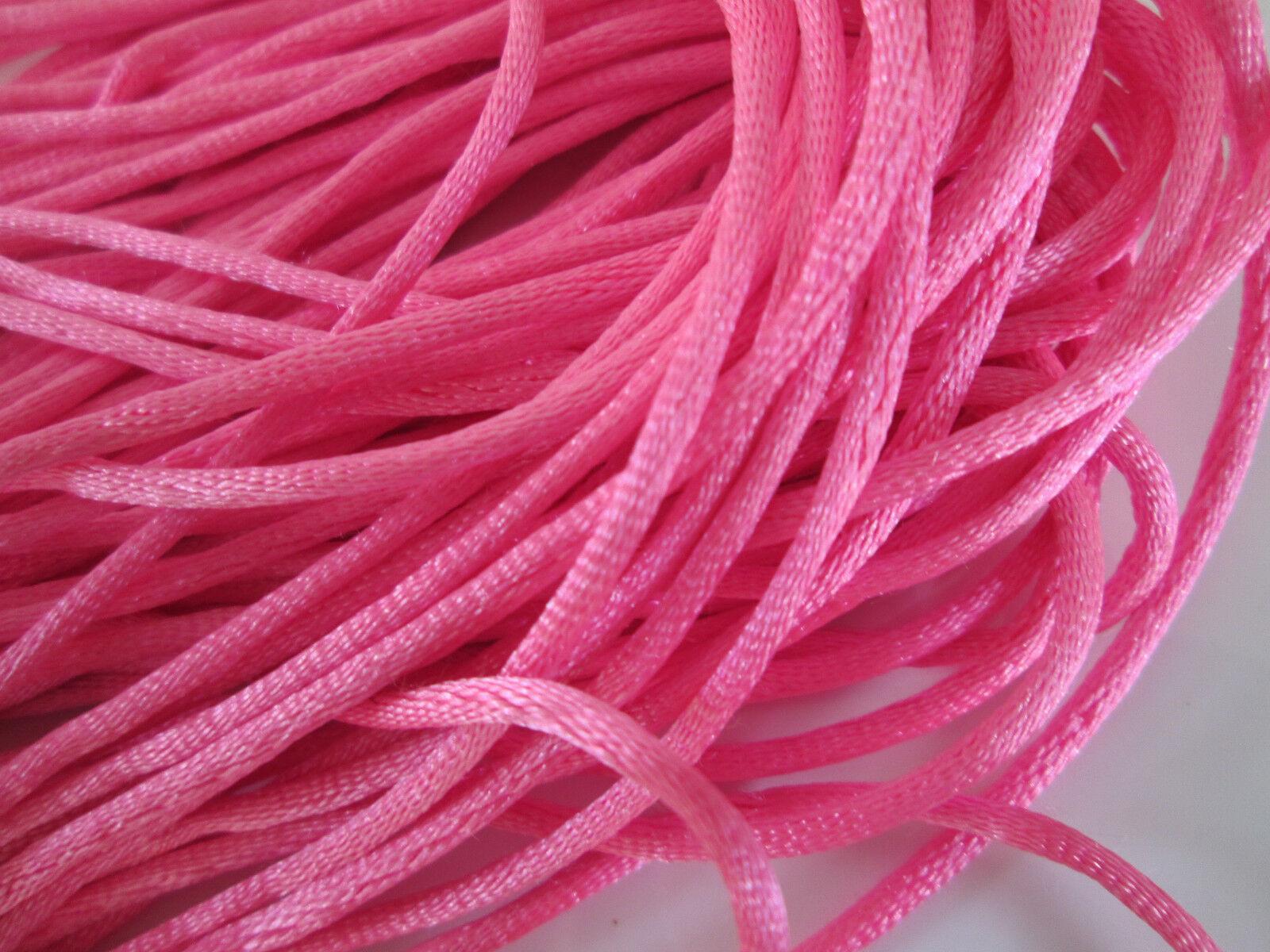 17 METER Satin kordel Pink 2,5mm elegante Borte Spitze KR 080****