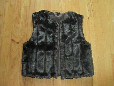 Chocolate Mink Faux Fur Vest Small New ()