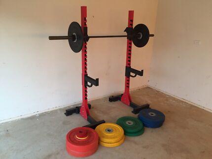 Gym Weights Squat Rack & Olympic Bar