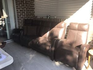 Leather sofa couches Hurstville Hurstville Area Preview