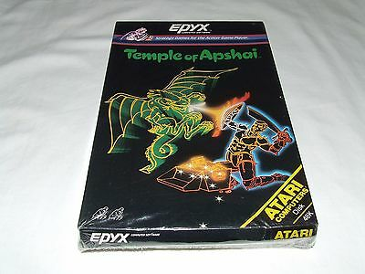 TEMPLE OF APSHAI by EPYX for ATARI COMPUTER  RARE LIKE THIS SEALED! (DISK)
