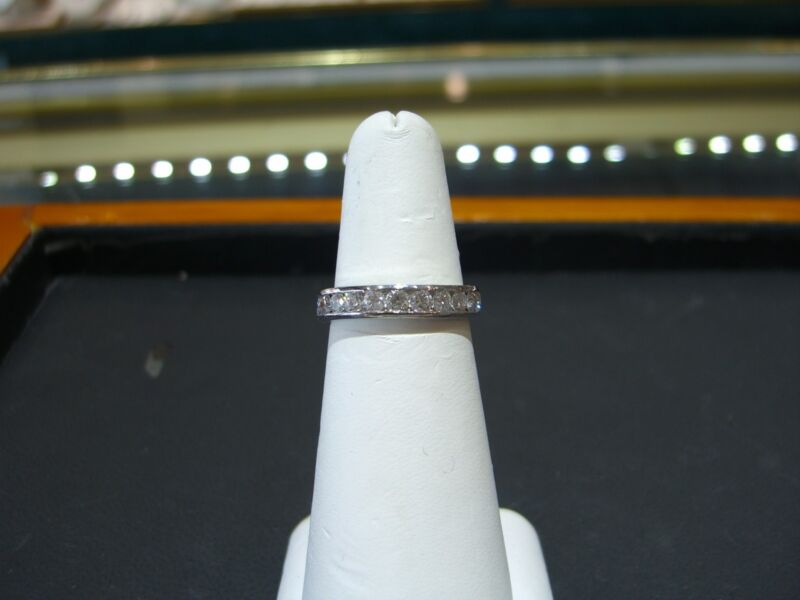 Fine Hand Made Wedding Band 1.00 Carat Diamonds Platinum Size 7.5 Wow!!!!