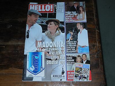 MADONNA GUY RITCHIE PENELOPE CRUZ DONALD TRUMP HELLO! MAGAZINE AUGUST 2004