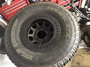"""6 bolt 16"""" Rims with ALL TERRAIN WILD COUNTRY TIRES"""
