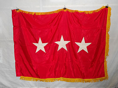 flag779 US Army 3 Star Lieutenant General Service Flag Abbot Co Eagle Regalia
