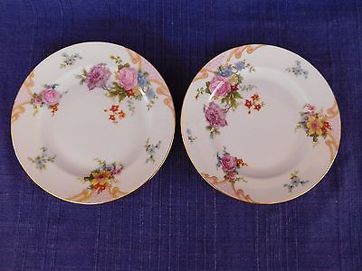 Epiag Bridal Rose BREAD PLATE SET of TWO- 2  AS-IS Bridal Rose Teller