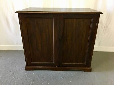 Mahogany 2 door cupboard - cabinet with shelf #2094