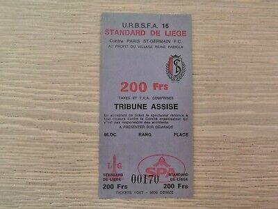 Ticket Standard de Liege - Paris Saint Germain 1985