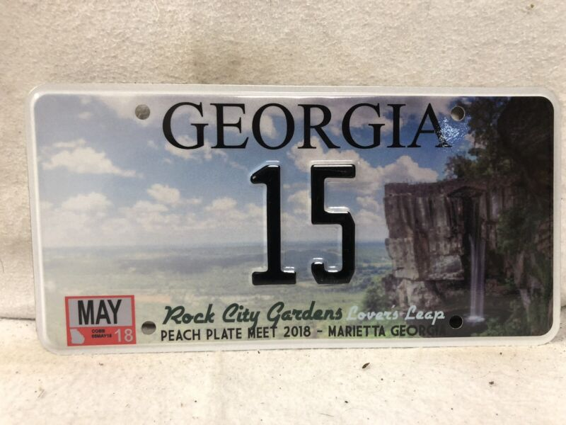 Georgia Souvenir License Plate #15