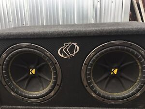Kicker subs with amp