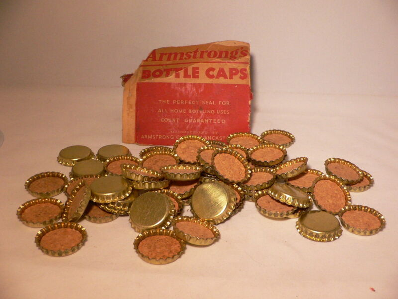 "VINTAGE PLAIN Unused CORK BOTTLE CAPS.GREAT FOR Crafts ""BOTTLE CAPS"""