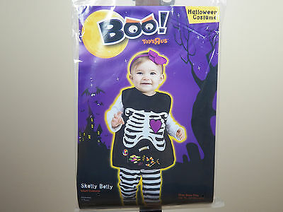Boo! Skelly Belly Skeleton Halloween Costume Candy Infant Size 12-24M **NEW**