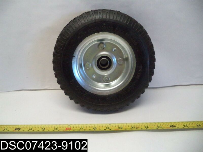 "2:50-4 8-1/2"" Rubber Tire 2 PR Max Inflation 30 P.S.I"