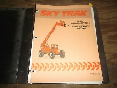 Skytrak 8042 10042 10054 Telehandler Telescopic Forklift Parts Catalog Manual