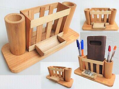 Wooden Pencil And Pen Holder Office Desktop Supplies Storage Stand Organizer Cup