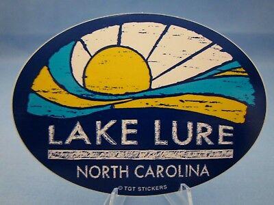"""LAKE LURE NORTH CAROLINA NC"" - SOUVENIR TRAVEL STICKER / DECAL ~L@@K~"