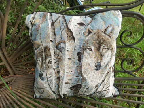 Tapestry Wolves Wolf Among Birch Trees Pillow By Artist David Wenzal Gorgeous