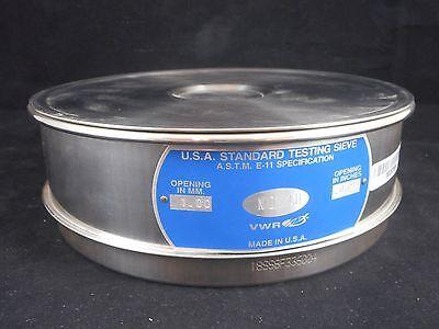 Vwr Usa Standard Stainless Steel 8 Diameter No. 18 Mesh 1mm Testing Test Sieve