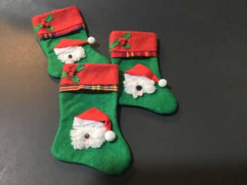 3 hand crafted Old English sheepdog stocking ornaments