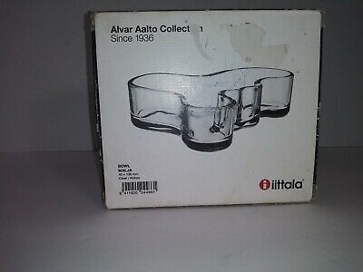 NIB Iittala Alvar Aalto Collection 40 x 136mm Clear Kirkas Bowl / Malja