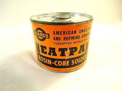 Vintage Rosin-core Solder 6040 5lb Container Used.