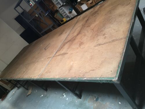 Industrial Fabric Cutting Large Table for Cutting Sewing Room Steel  W 1 Roller