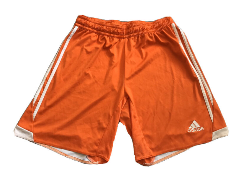 Adidas Youth LG Orange Climacool Basketball Athletic Gym Training Shorts Used