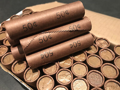 Old Unsearched Bank Rolls Wheat Cents Lincoln Pennies Us Coin Lot 1909 1958 Set