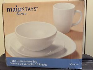 16 pieces dinnerware set - brand new