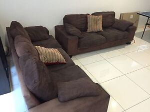 Chocolate Brown Couch x 2 Carina Heights Brisbane South East Preview