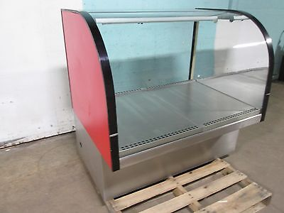 Delfield Commercial Lighted Curved Glass Dry Bakery Merchandiser Display Case