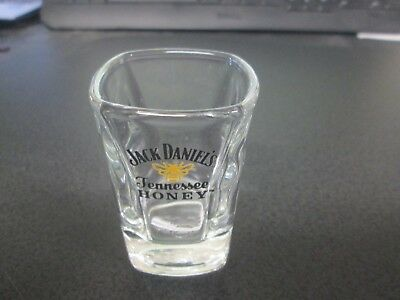 Used, Jack Daniels Tennessee Honey Clear Glass Gold Honey Bees Shot Glass for sale  Shipping to Canada
