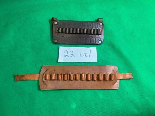 Two Vintage 22 cal Ammo Holders Slide on Belt Type