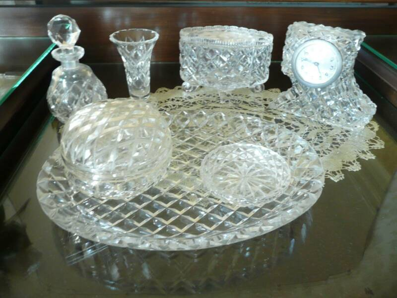 Retro Crystal Dressing Table Set 7 Piece | Collectables | Gumtree ...