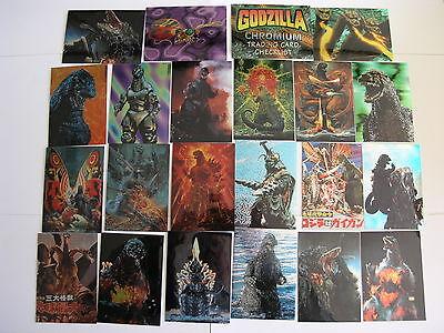1996 JPP/Amada Godzilla Chromium 54 Card set includes checklist card
