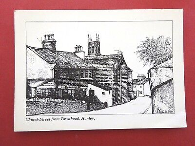 Church Street from Townhead, Honley nr Holmfirth by Jeanette I. Leadbetter 1980s