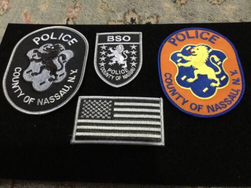 New York Police Nassau County Swat, Very rare 3 patch uniform collection +Bonus