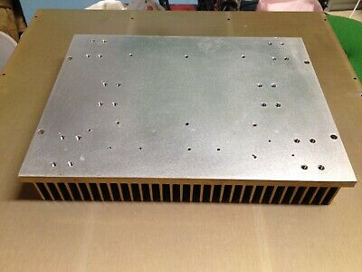 Large Machined Flat Aluminum Heatsink 10 X 7.5 X 1.3 Fly Cut 4 Lbs