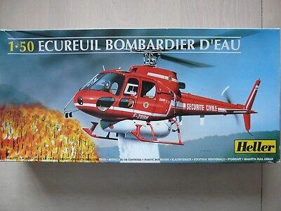 Maquette Hélicoptère HELLER 1/50 Ref 80485 ECUREUIL Bombardier d''Eau