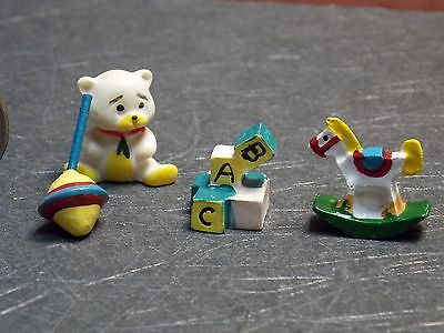 Dollhouse Miniature Baby Toys Set of 4 1:12 one inch scale  D9