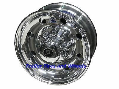 """17.5"""" 8 Lug Alcoa Polished Aluminum Trailer Wheel 665401 for 1/2"""" studs"""
