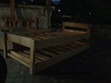 Solid wood single bed with trundle Wahroonga Ku-ring-gai Area Preview