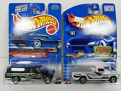Hot Wheels Lot of 2 1979 '79 Ford F-150 Pickup Trucks 1/64 Die Cast Cars