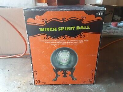 Gemmy Halloween 2007 Rare Fully Working Animated Witch Spirit Ball Prop -No Legs