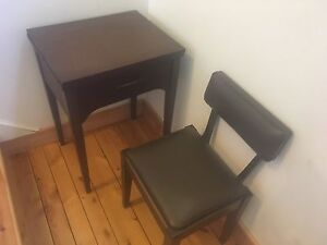 Singer Sewing Machine Desk with Chair