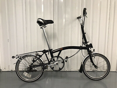 Brompton Folding City Bike Complete With Rack - Used Good Working Order