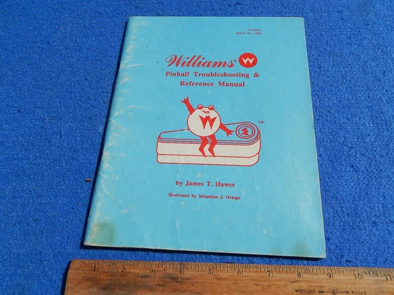 1986 Williams PINBALL TROUBLESHOOTING & REFERENCE MANUAL