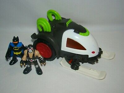 Imaginext DC Super Friends Bane Battle Sled vehicle w/ Batman & Bane figures