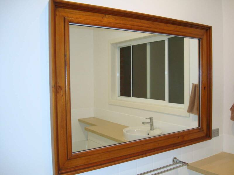 Bathroom Mirrors Gumtree timber framed bathroom mirror | mirrors | gumtree australia